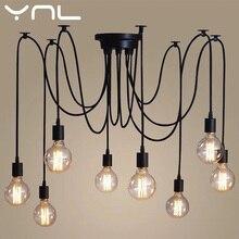 Lámpara colgante araña Vintage Retro E27 Edison estilo Loft luces colgantes ajustables araña lámpara de techo