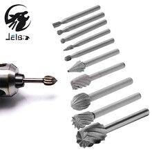 Jelbo 10 шт. Drill Power Tools Сверла Фрезы Электрический Шлифовальный Станок Гравировка Головы Резак Нож Сверло Инструменты