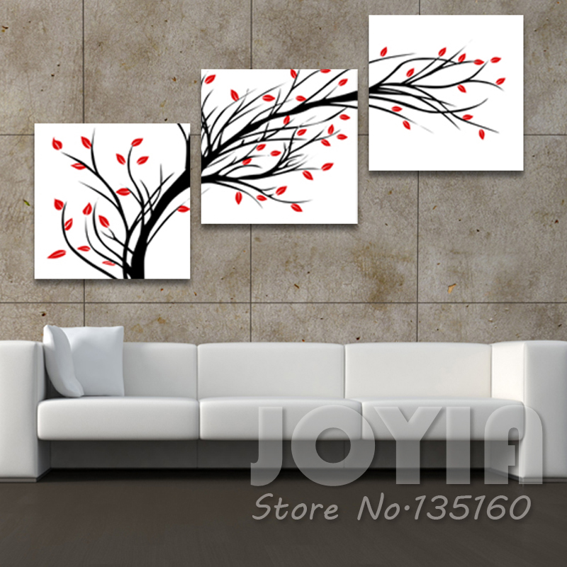 Buy no framed modern abstract painting 3 panel wall pictures for living room for Abstract wall art for living room