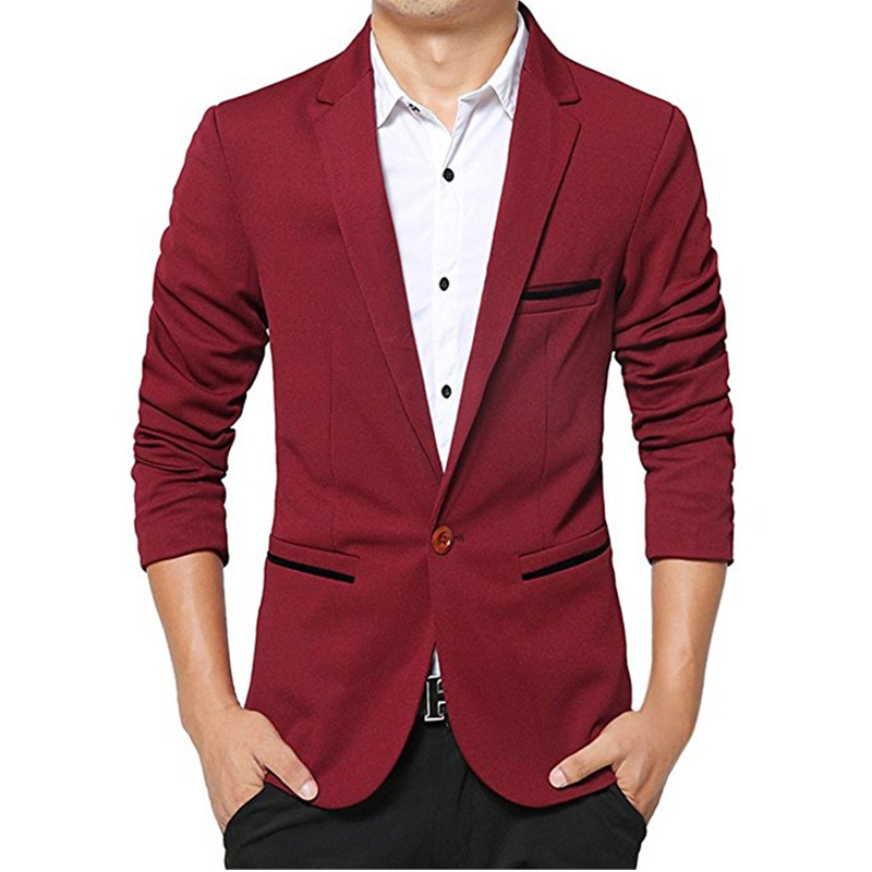 Personification George Eliot internal  New classic men's suit jacket red dark blue and black lapel a button  business casual jacket and men's prom dress jacket custom suit jacket mens  black suit jacketcustom suit jacket - AliExpress