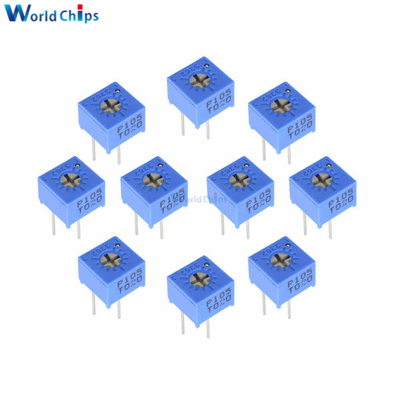 10pcs 3362P 101 102 103 104 105 201 202 203 204 501 502 503 504 Trimpo Trimmer Potentiometer 3362 500R 1K 2K 5K 10K 20K 50K 100K