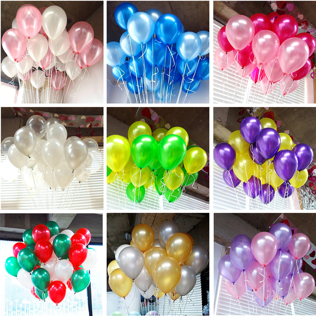 10Pcs birthday balloons 10inch 1.5g Latex Helium balloon Thickening Pearl party balloon Party Ball kid child toy wedding ballons