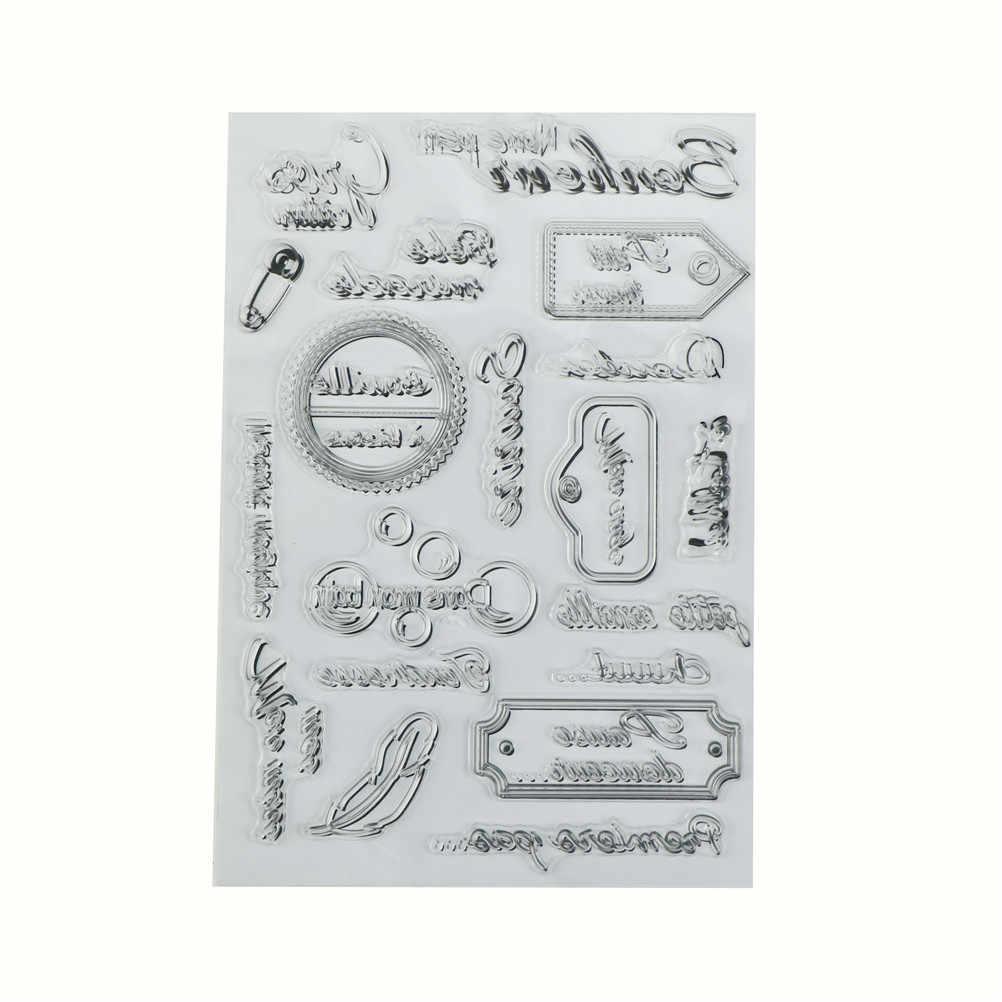 DIY רעיונות אלבום תמונות דקורטיבי חותמת גיליונות צרפתית מילות bouille a lisous שקוף ברור סיליקון חותמת חותם חם