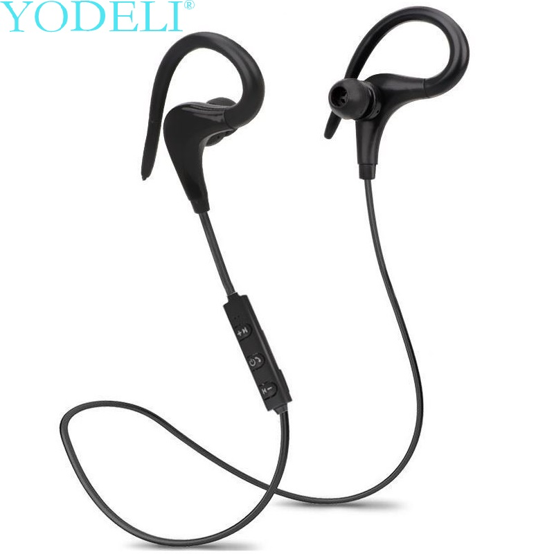 YODELI Bluetooth Headphones Wireless Sports Headset Bluetooth V4.1 Earphone with Microphone Sweat Proof for iPhone Xiaomi Phone