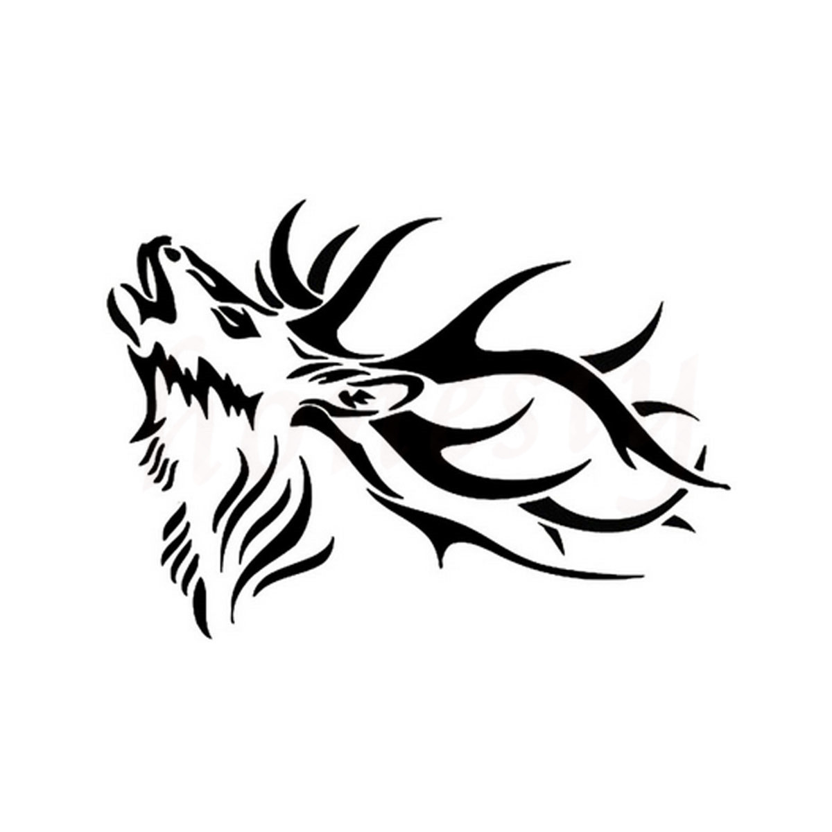 Adult Male Deer Animal Cool Car Sticker Wall Home Glass