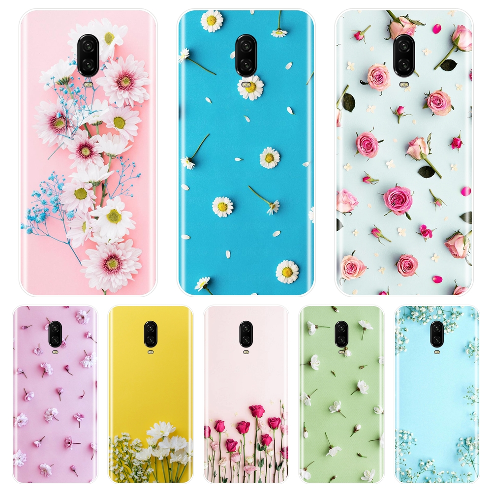 Soft <font><b>Phone</b></font> Case For <font><b>One</b></font> <font><b>Plus</b></font> <font><b>6</b></font> 6T 5 5T 3 3T Rose Flower Floral Yellow Pink Silicone Back <font><b>Cover</b></font> For OnePlus <font><b>6</b></font> 6T 5 5T 3 3T Case image