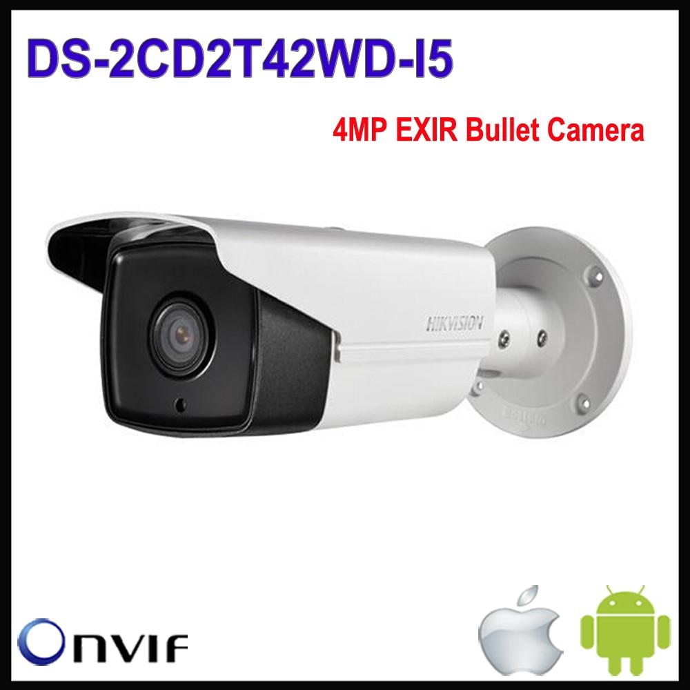 Hikvision 4mp IP Камера POE ds-2cd2t42wd-i5 4 мм объектив Поддержка обновлен Exir сети ИК Открытый Пуля безопасности Камера