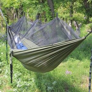 Image 4 - 超軽量パラシュートハンモック狩猟蚊帳hamac旅行ダブル人hamak用家具ハンモック