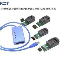 Universal test socket EMMC153/169 eMCP162/186/221/529 support many different eMMC chips|chip|chip socket  -