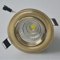 Nieuws Warm Cool Natuurlijke witte 10 W 15 W Dimbare COB LED Downlighters 110-240 V Kantelbare Armatuur Verzonken plafond Omlaag Lamp