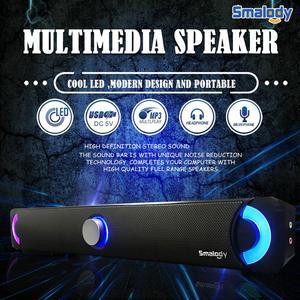 Image 2 - Przewodowe głośniki PC Fashion Music usb stereo przenośny głośnik komputerowy z kolorowe diody led Light HiFi głośnik multimedialny do laptopa