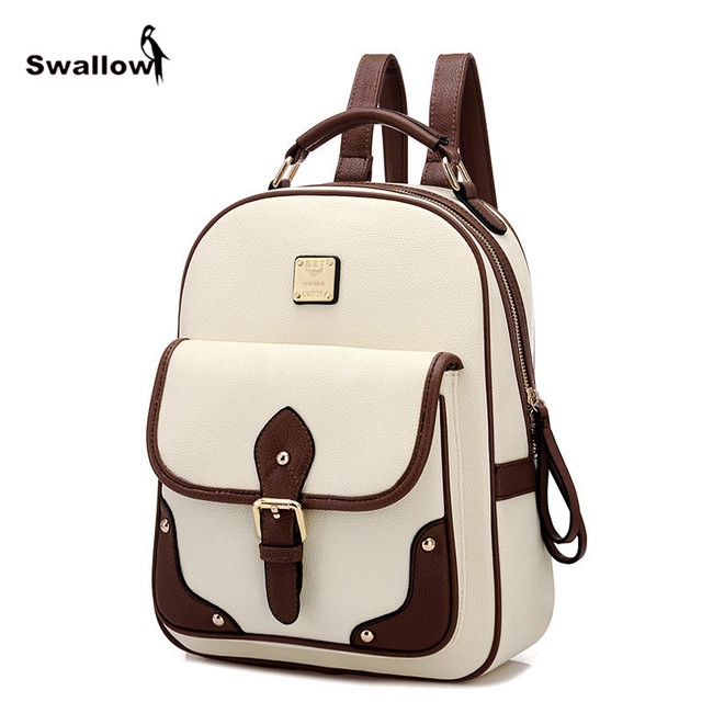 Vintage Mochila Feminina Bolsos Mujer 2016 Fashion Women Backpack Leather School Bags For Teenage Girls Thread Travel Daypacks