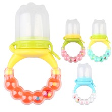 Baby Feeding Pacifier Bell Chew Soother Complementary Device Nipple Baby Infant Fruit Bite Bags