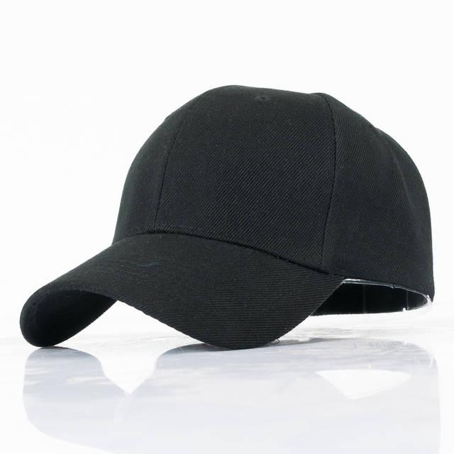 placeholder 10 Warna Ayah Topi Pria Wanita Topi Baseball Polos Kasual  Adjustable Golf Topi Unisex Hitam d29e31238a