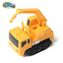 1 Peça Pista Mágica Carro Indutivo Magia Mini Escavadeira Guindaste de Construção Do Carro Brinquedos Do Carro Para As Crianças Presente