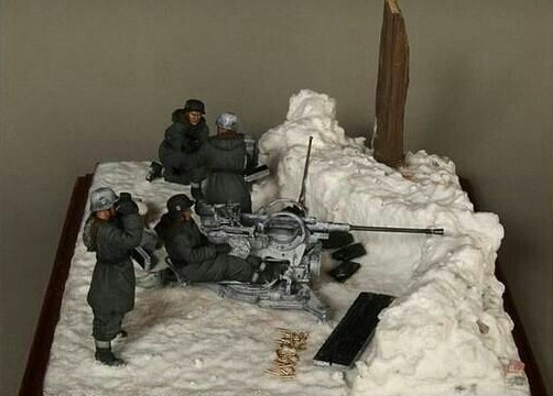 135 WW2 German Winter Artillery 4 Person Does Not Include Ground Stations And Guns WWII Resin