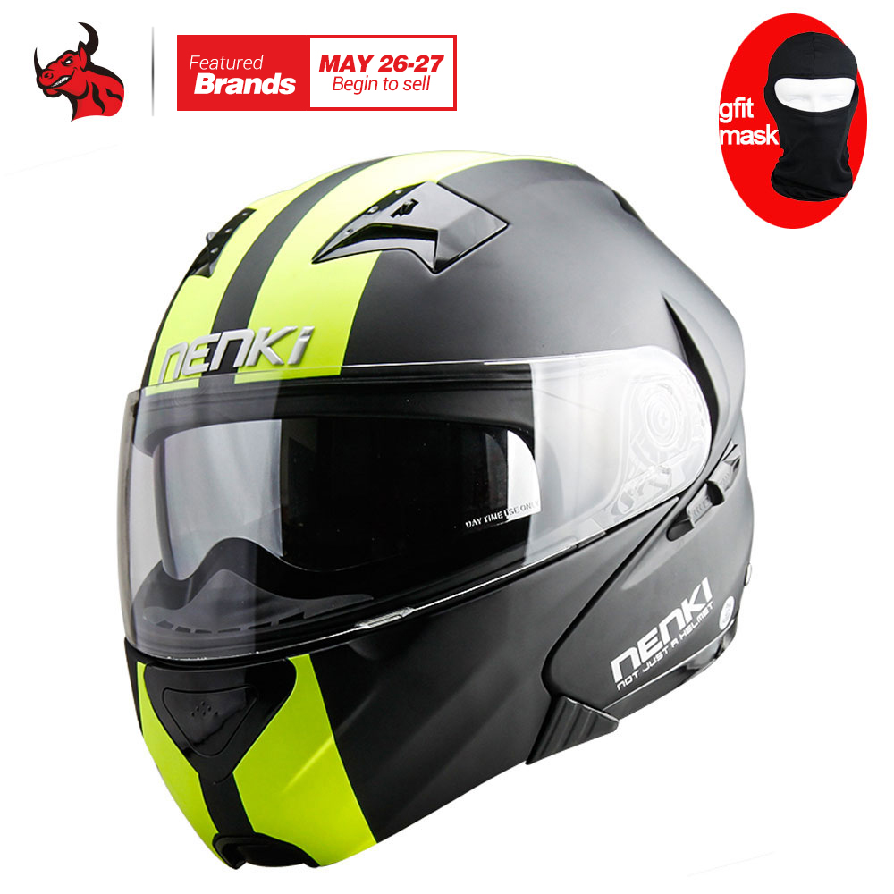 NENKI DOT Motorcycle Helmet Flip Up Helmet Open Face Men's Moto Helmet Capacetes De Motociclista Dirt Bike Helmet Casque Moto masei mens womens war machine gray ironman iron man helmet motorcycle helmet half helmet open face helmet abs casque motocross
