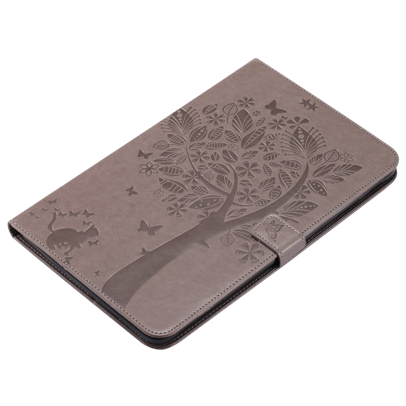 Cute Cat Tree Embossed Leather Wallet Magnet Flip Tablet Case Cover Bags Skins Coque Funda For Samsung Galaxy Tab E 9 6 quot SM T560 in Tablets amp e Books Case from Computer amp Office