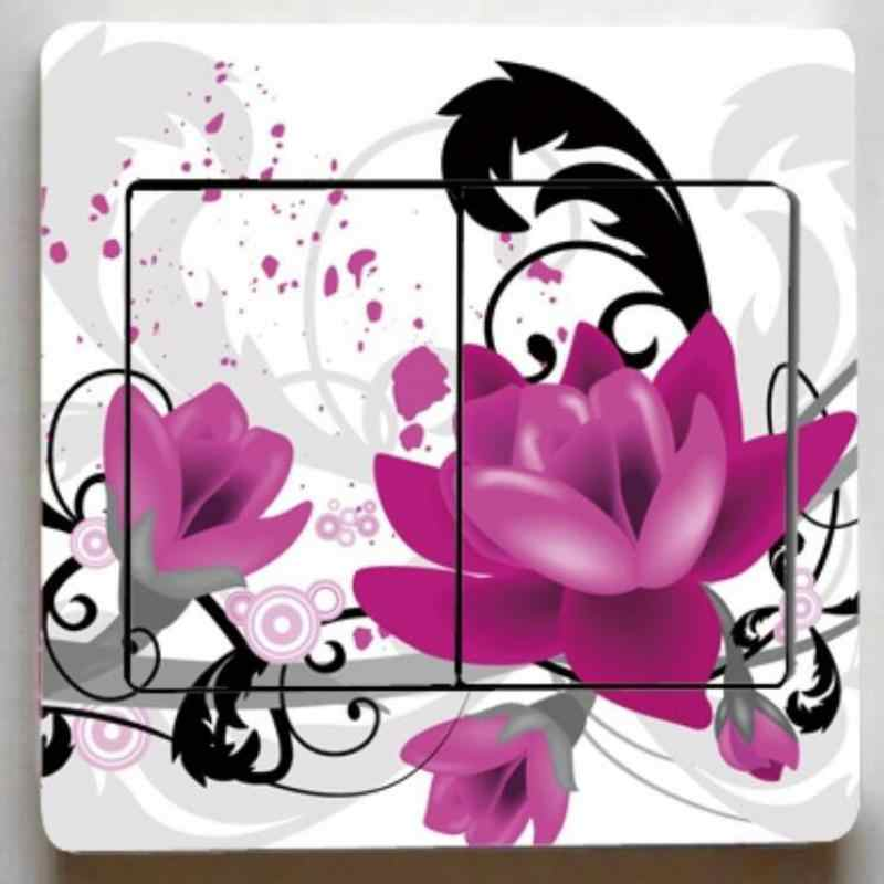 1 chiếc hoa Lãng Mạn công tắc miếng dán nhà mới phòng khách phòng ngủ đèn trang trí miếng dán trẻ em như nhãn dán