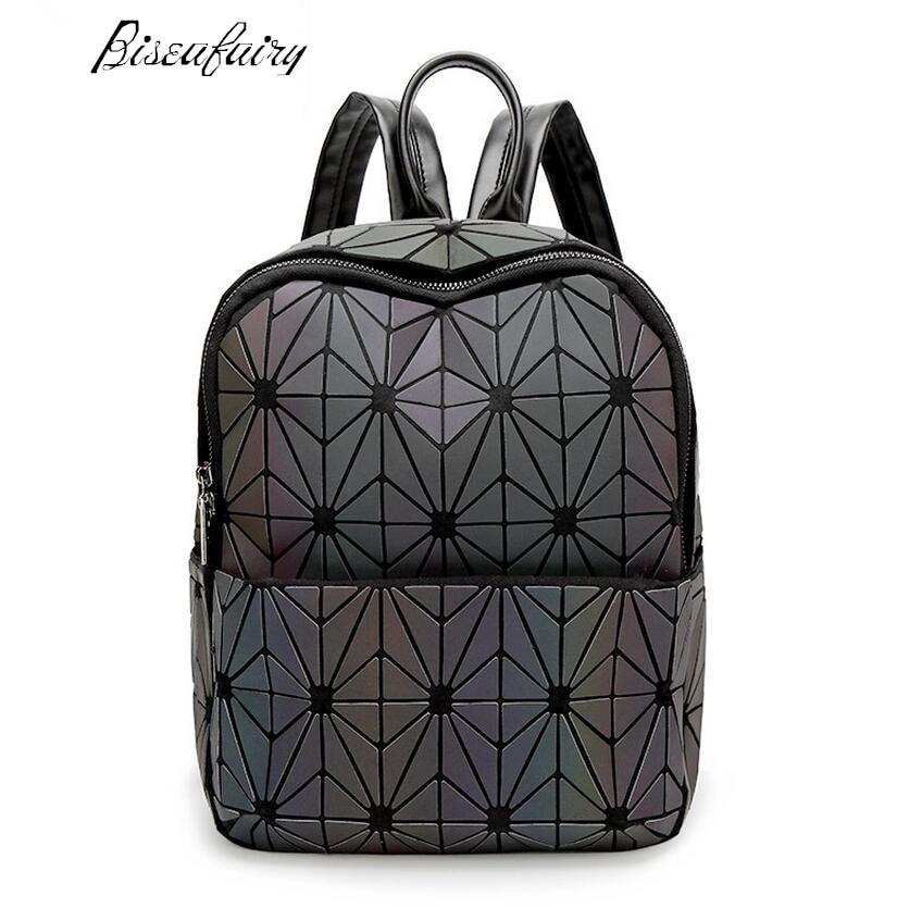 2017 New Bao bao women nano bag Diamond Lattice Tote geometry Quilted backpack sac bags women The chameleon series паяльник bao workers in taiwan pd 372 25mm