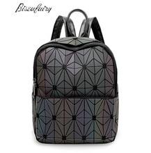 Новинка 2017 года Bao женщин Nano сумка Diamond решетки Tote Геометрия Стеганый рюкзак SAC сумки женщины Хамелеон серии