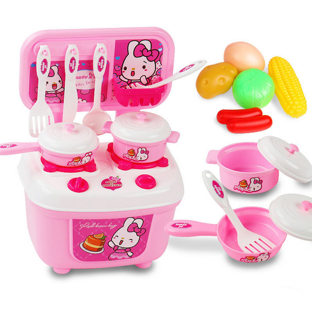 HIINST New Christmas Children Gift Play Kitchen Set Kids Pretend Toy Cooking Food Toys APR11HY