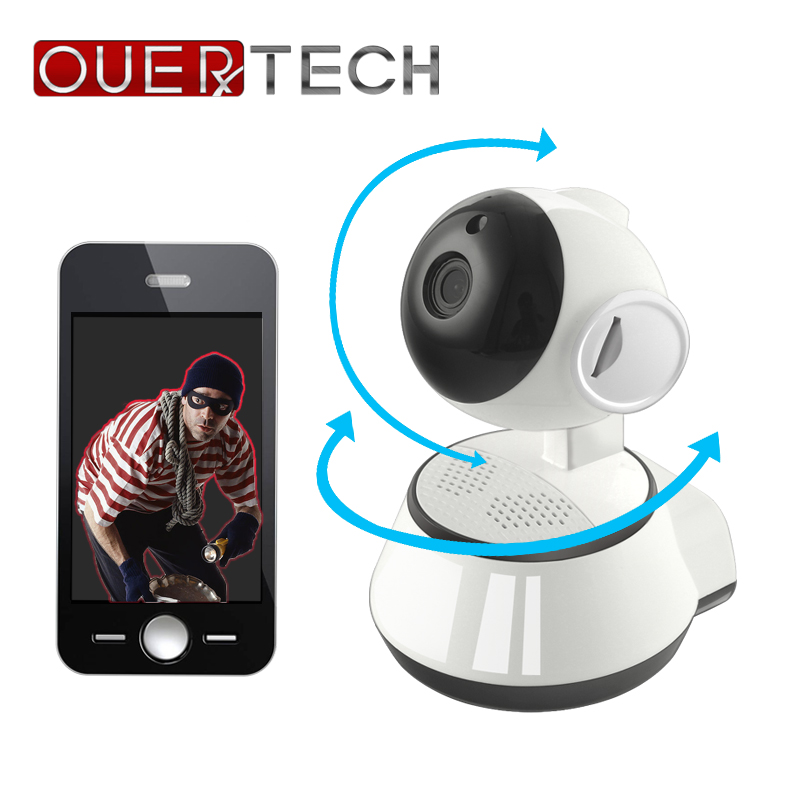 OUERTECH video intercom Infrared wifi security camera 720P real time view Motion Smart IP Camera with TF card slot baby monitor