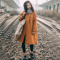 Women Handmade Button Chinese Warm Simple Jacquard Cotton Linen Down &parkas Casual Autumn Winter Coat Outwear Winter Overcoat