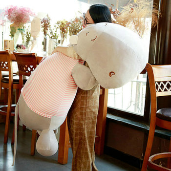 100cm big size Cute hippo plush toys stuffed Soft Down cotton hippo doll birthday gift For Children Sleep pillow cushion