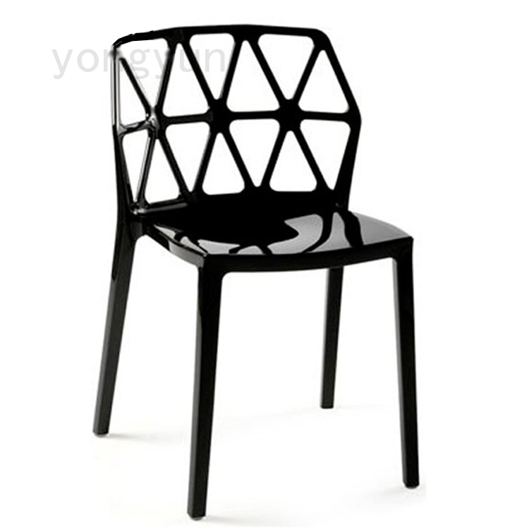 fashion contracted modern design transparent clear stackable dining chair living room leisure meeting popular restaurant chairs