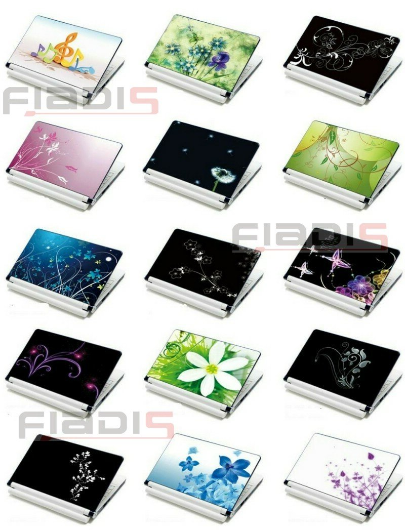 Customized design 100pcs lot 15 4 laptop skin 15 6 laptop sticker notebook cover free shipping different pictures choice in laptop skins from computer