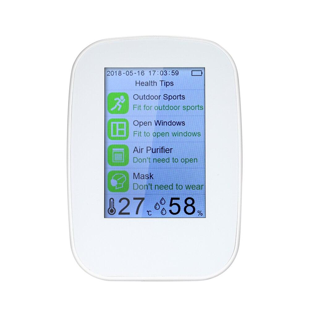 Détecteur de Qualité d'air Intérieur/Extérieur Numérique PM2.5 Formaldéhyde Gaz Moniteur LCD HCHO/TCOV Testeur Instrument Mètre Air Analyseurs