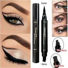 Маска для глаз с карандашом для глаз с карандашом с двойной головкой Быстрая сухая подводка для глаз Водонепроницаемый макияж maquiagem