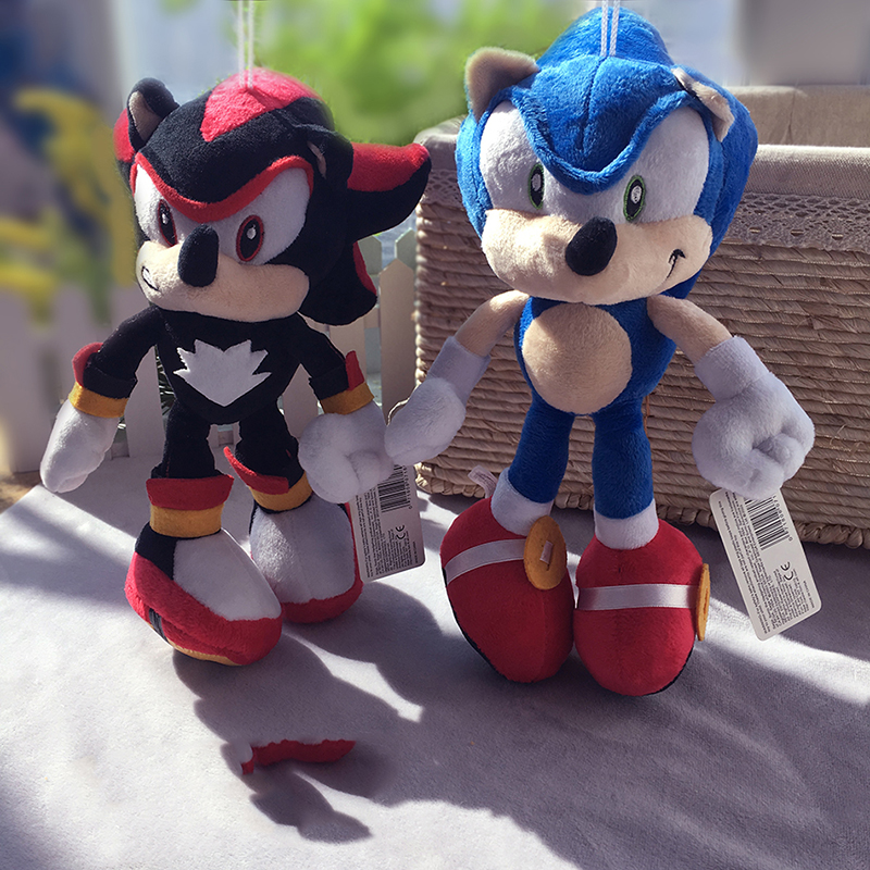 Anime Games Figure Sonic the Hedgehog Short Plush Toy Blue B 28cm Children Gifts Free Shipping