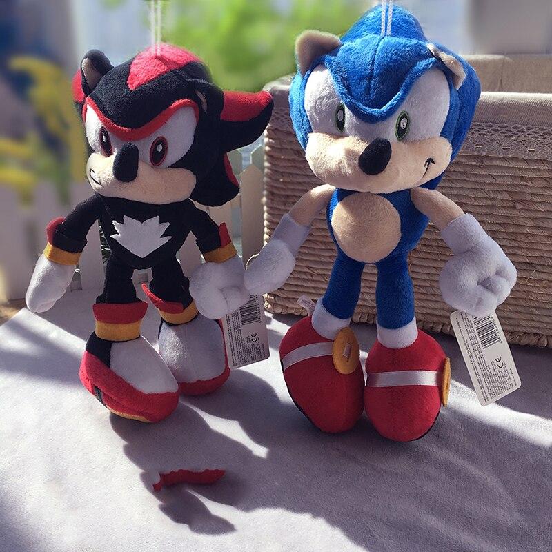 Giochi Anime Figura di Sonic Breve Peluche Giocattolo Blu B 28 cm I Bambini Regali Spedizione Gratuita