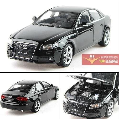 Beau New 1:24 AUDI A4 Alloy Diecast Car Model Toy Collection With Box Black B1558