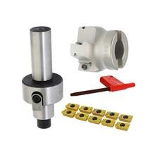 Straight Shank C12 FMB22 C16 C20 +BAP400R 50 22 Face Milling CNC Cutter + 10pcs APMT1604 Inserts For Power Tool