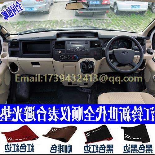 Accessoires de style de voiture dashmats couverture de tableau de bord pour Ford Transit 150/250/350/350HD Tourneo passager van 2000-2012 RHD