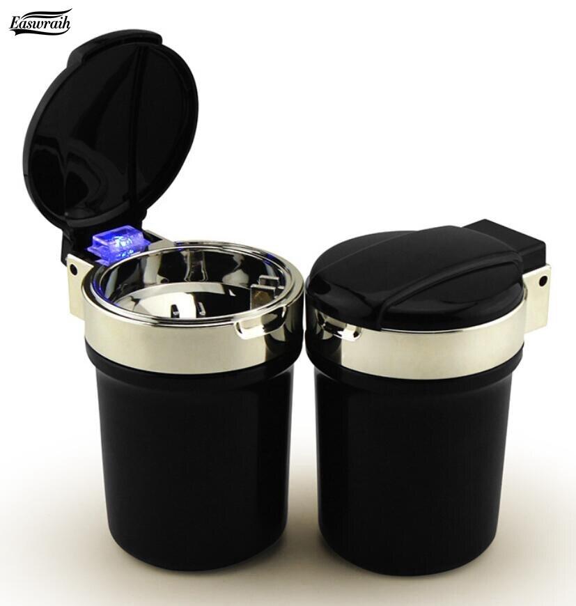 Hommes Femmes Cadeau De Voiture LED Cendrier Cigarette Cendres Titulaire Pour Renault Fluence Duster Megane Kadjar Clio Accessoires