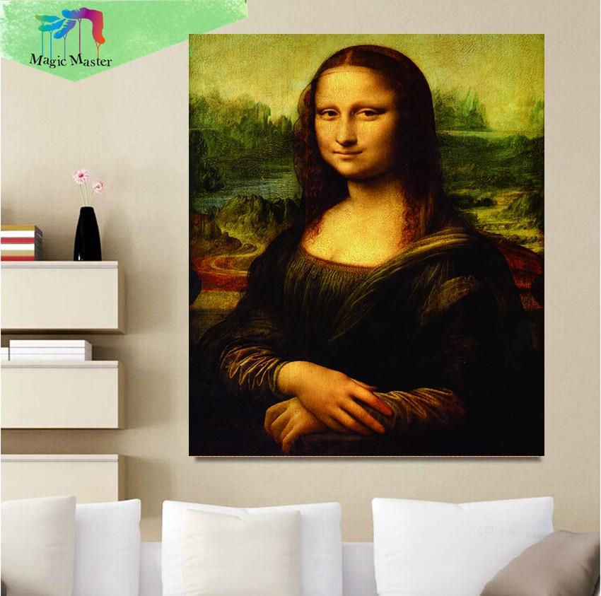 Novo prispe 5D DIY diamantno slikarstvo Mona Lisa vezenje polno - Umetnost, obrt in šivanje - Fotografija 1