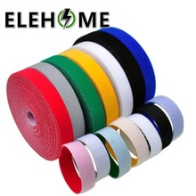10mm*5m Cable Ties Computer Data Cable Strap Network Nylon Cable Tie Colorful Hook and Loop Cable Tie XF30 orico cbt cable manager nylon cable mark colorful ties label brand belting ribbon wire binging strap seals for your computer