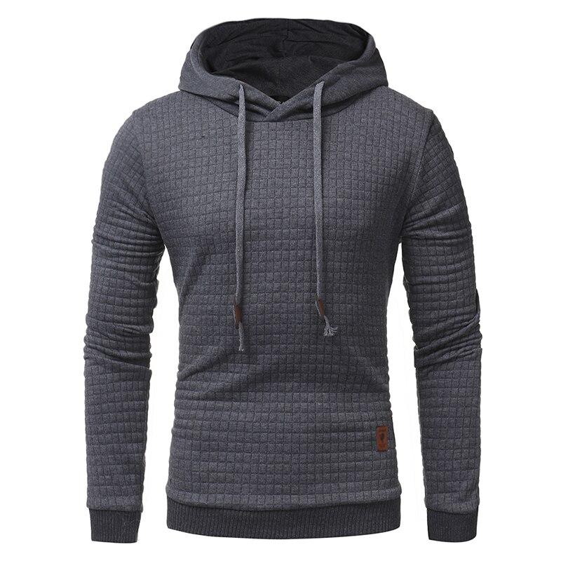Casual Plaid hoodies 2017 Men's Unique K