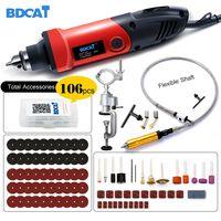 BDCAT 400 Вт Мини дрель гравер роторный инструмент Электрическая маленькая угловая шлифовальная машина Dremel инструмент с 0,6-6,5 мм гибким валом и ...