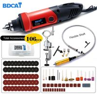 BDCAT 400W mini drill engraver Rotary tool Electric Mini Angle Grinder Dremel Tool with 0.6 6.5mm flexible shaft and accessories