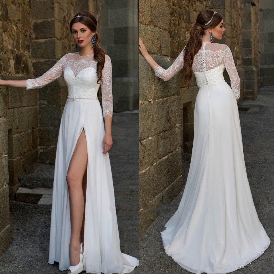Evening Dress Vestidos Novia Sleeved Chiffon Polka Dot