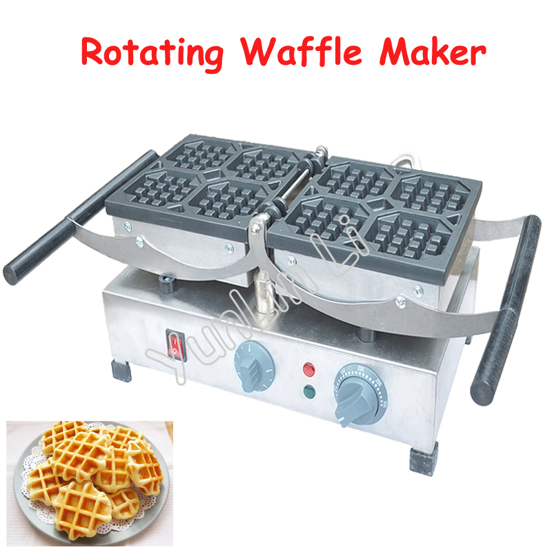 Rotating Waffle Maker with Small/Big Grid 220V Commercial Waffle Cake Making Machine FY-2201-A / FY-2201-B army green metal yp36 y2m 4 19 36 50 65 pins aviation connector new 1pc