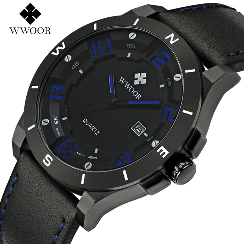 Sports Watches WWOOR Men Brand Fashion Luxury Luminous