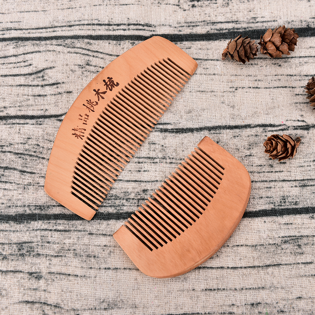 S/L Pocket Comb Handmade Sandalwood Anti-Static for hair Beard And Mustache Combs Hair Brush 2