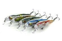 250 pcs Double Fish Minnow Fishing Lure pesca Hooks 10.5cm 11g Fish Crankbait Artificial Fishing Bait Swimbait