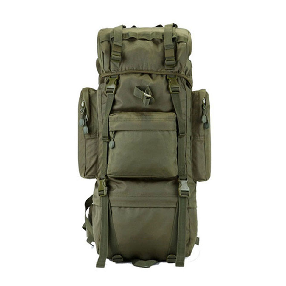 65L Metal Bracket Men Backpack Multi-function Waterproof Nylon Bag Camouflage Pack Tactical Backpack